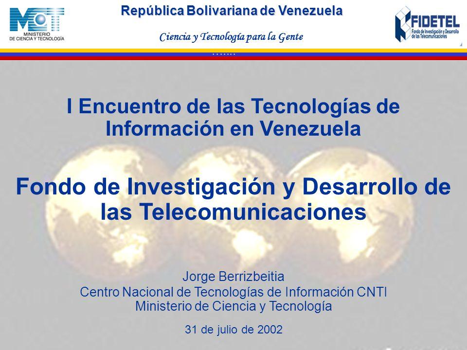 I Encuentro de las Tecnologías de Información en Venezuela