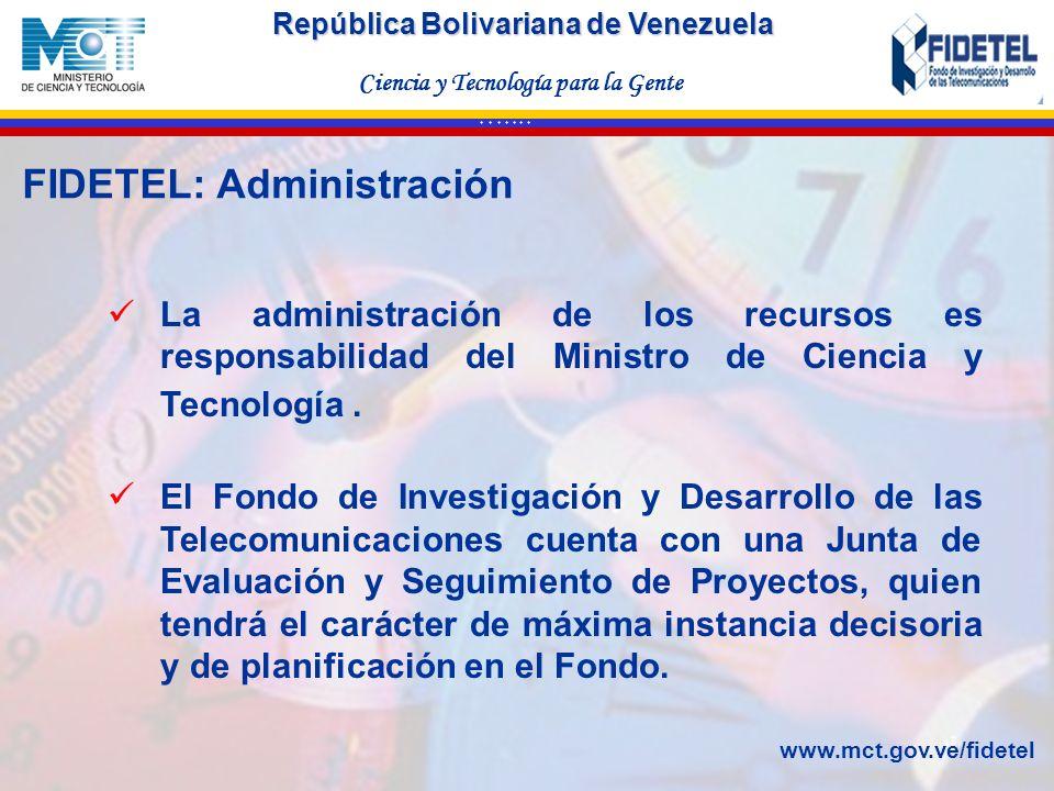 FIDETEL: Administración