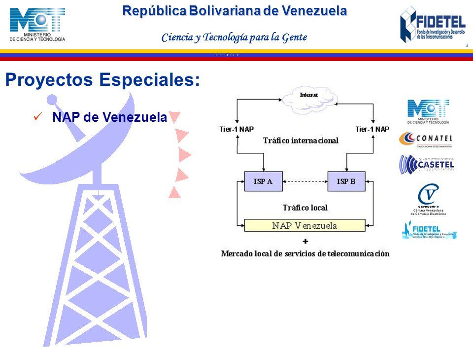 Proyectos Especiales: