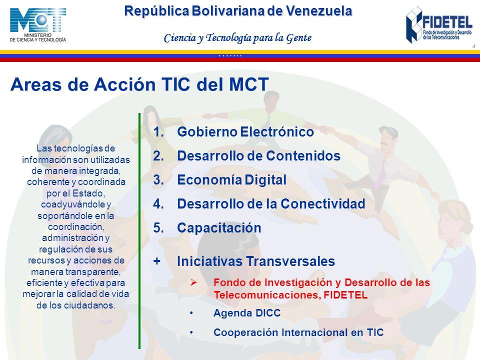 Areas de Acción TIC deI MCT