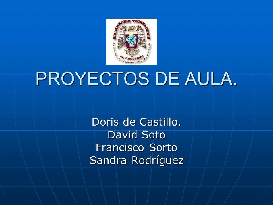 Doris de Castillo. David Soto Francisco Sorto Sandra Rodríguez