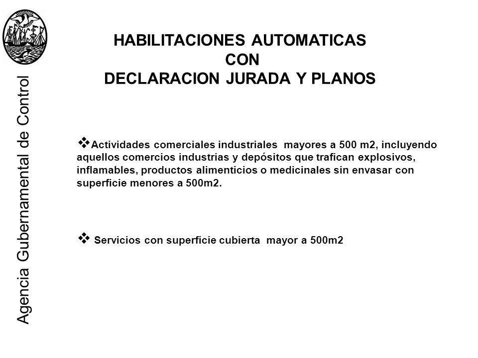 HABILITACIONES AUTOMATICAS DECLARACION JURADA Y PLANOS