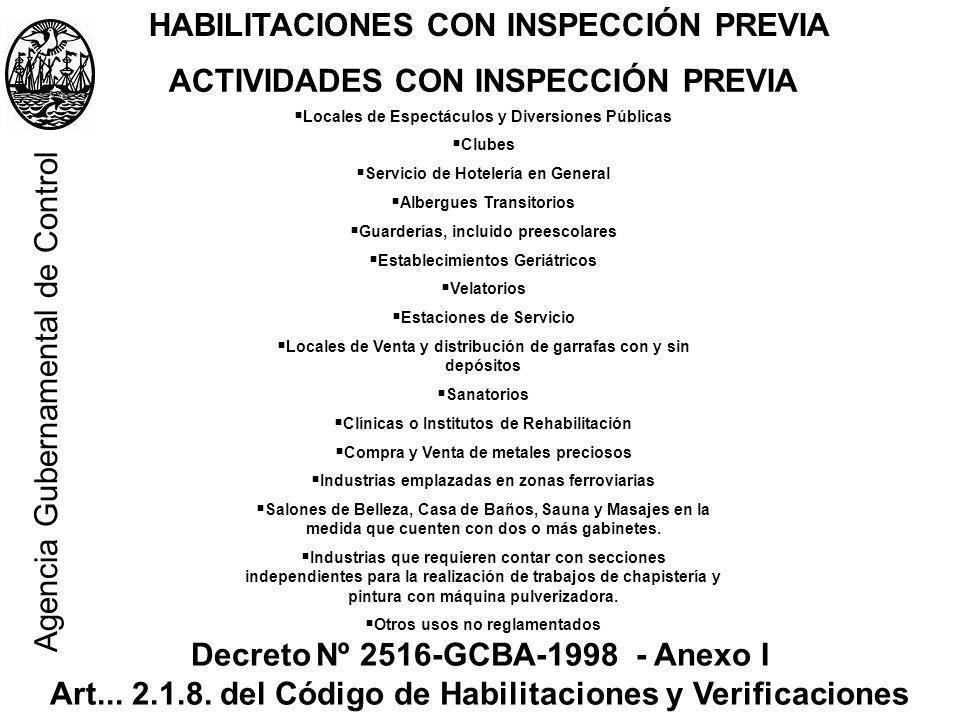 HABILITACIONES CON INSPECCIÓN PREVIA