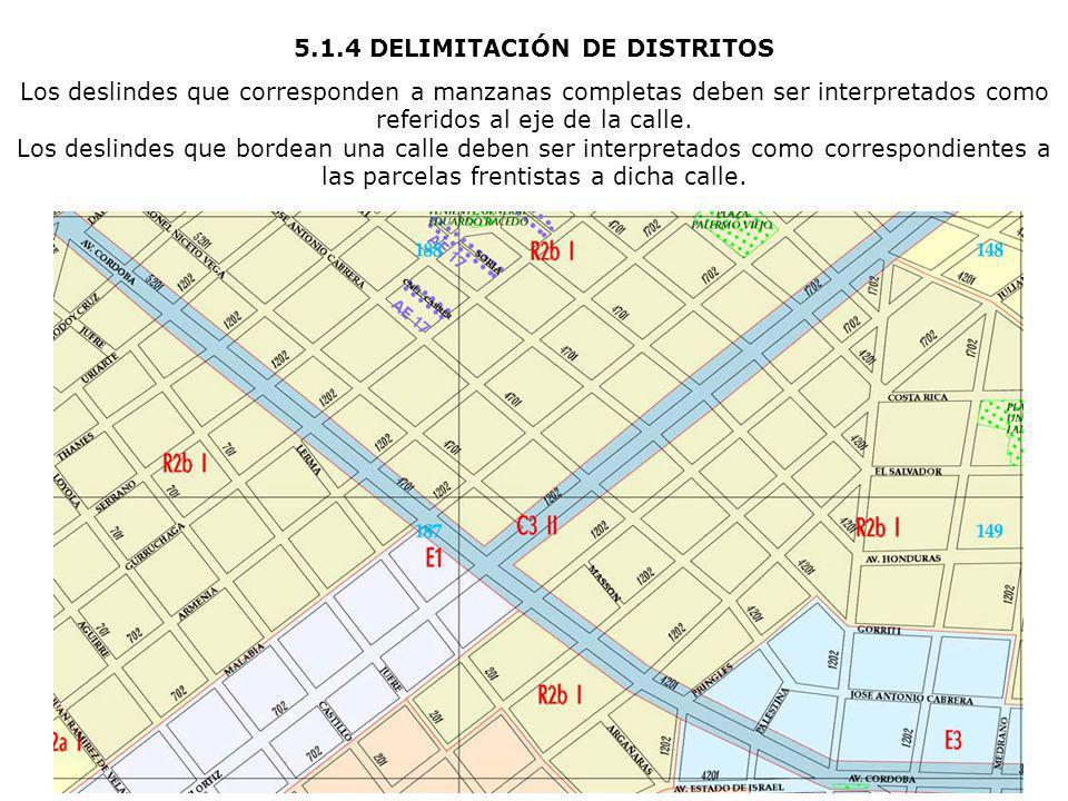 5.1.4 DELIMITACIÓN DE DISTRITOS