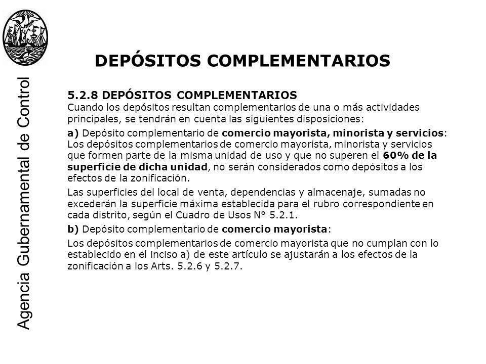 DEPÓSITOS COMPLEMENTARIOS