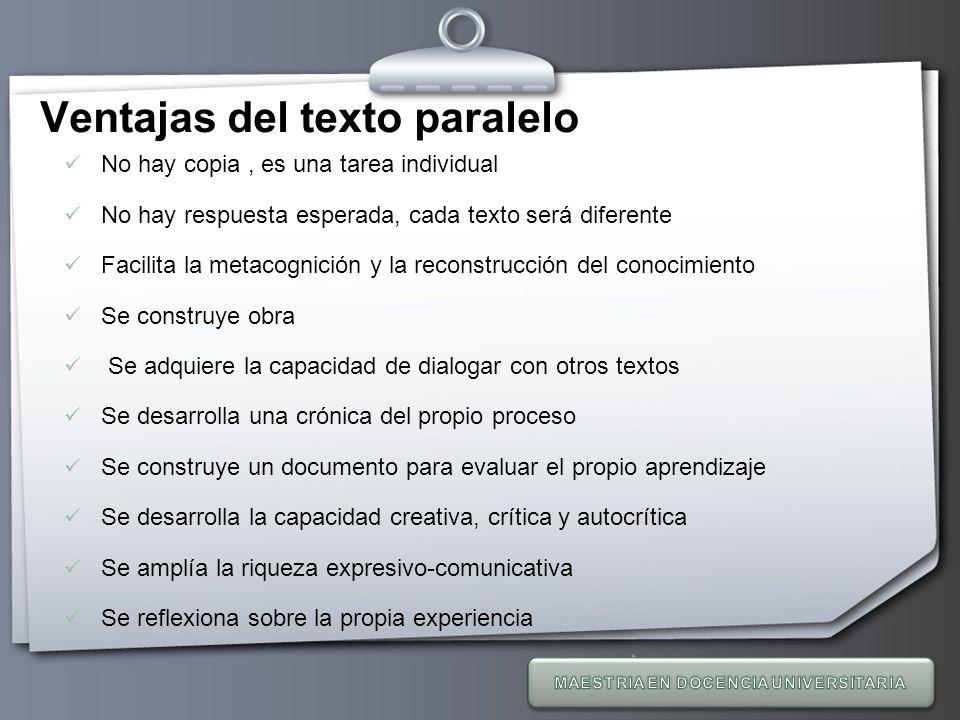 Ventajas del texto paralelo