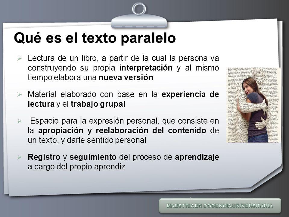 Qué es el texto paralelo