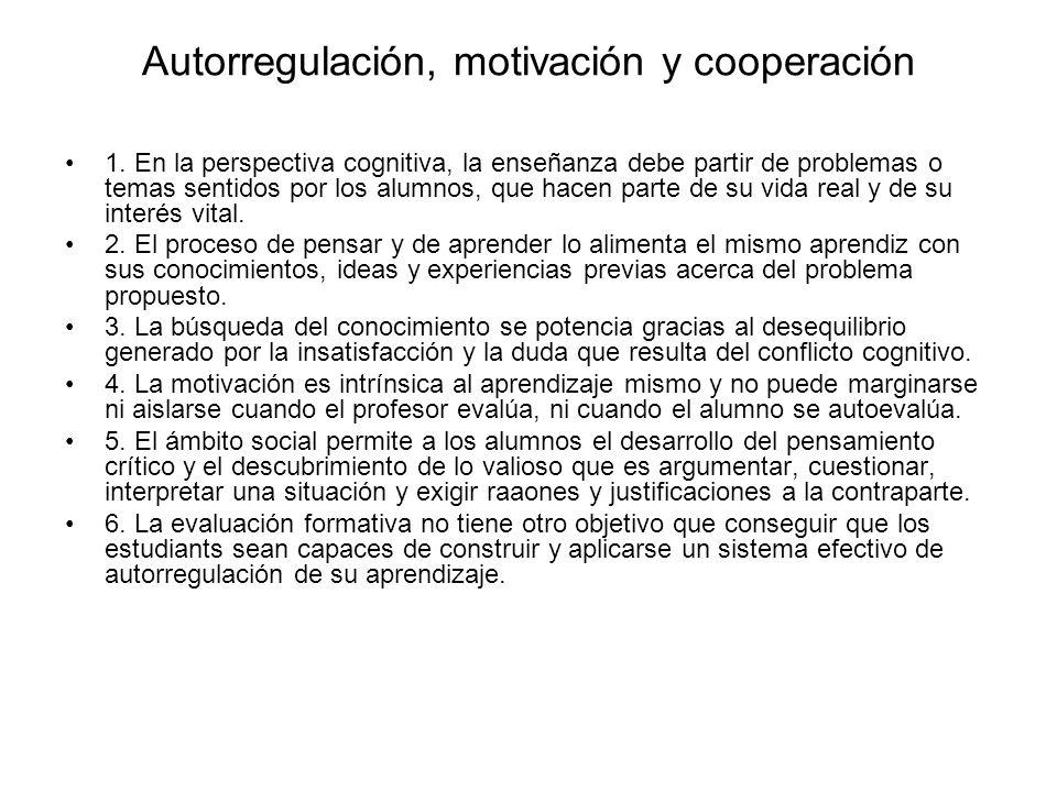 Autorregulación, motivación y cooperación