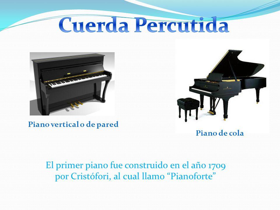 Cuerda Percutida Piano vertical o de pared. Piano de cola.