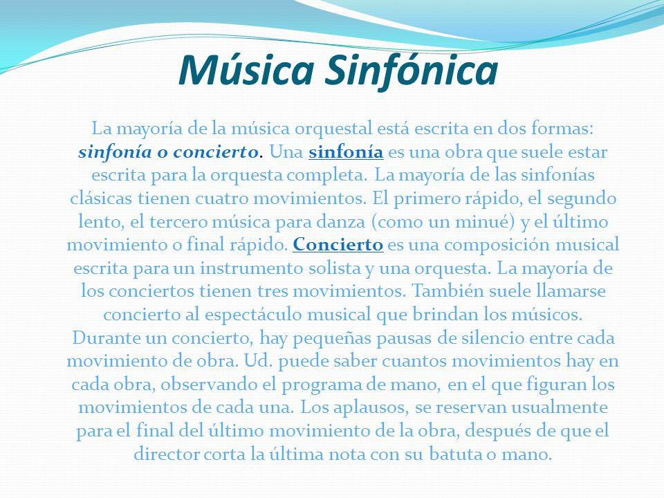 Música Sinfónica