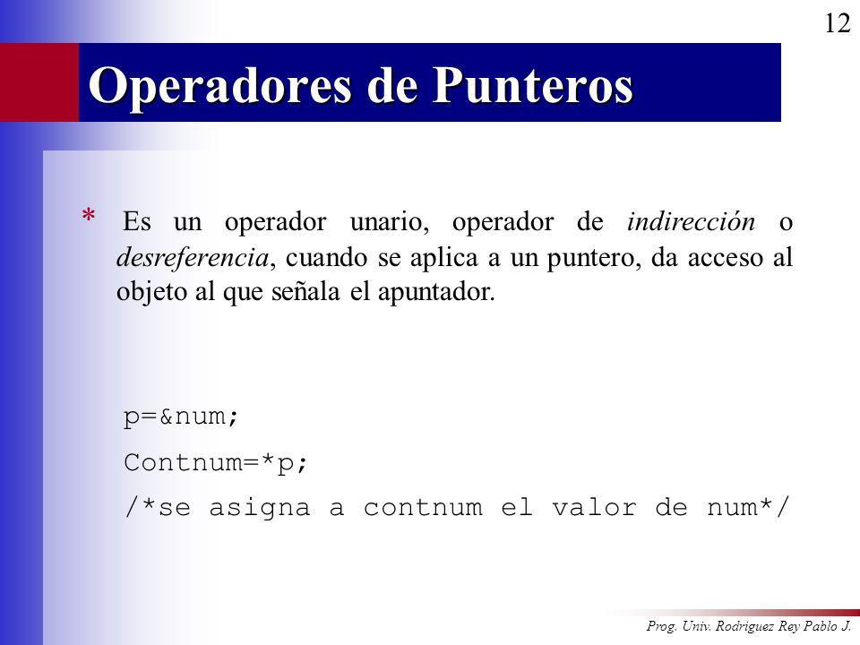 Operadores de Punteros