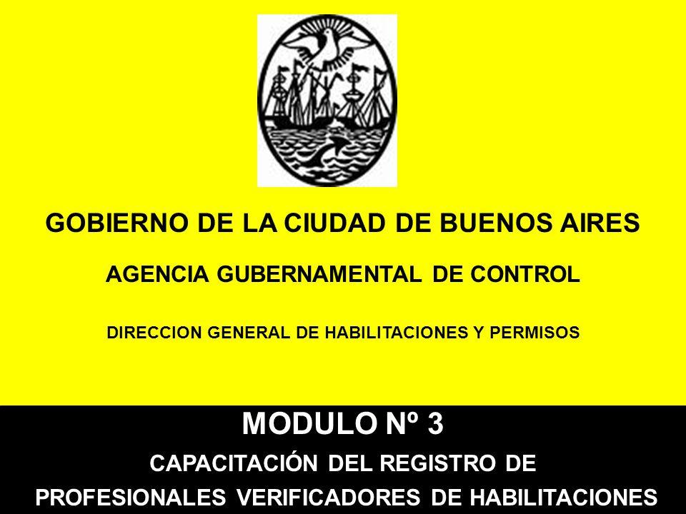 MODULO Nº 3 GOBIERNO DE LA CIUDAD DE BUENOS AIRES