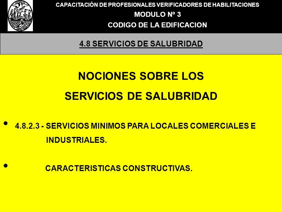 NOCIONES SOBRE LOS SERVICIOS DE SALUBRIDAD