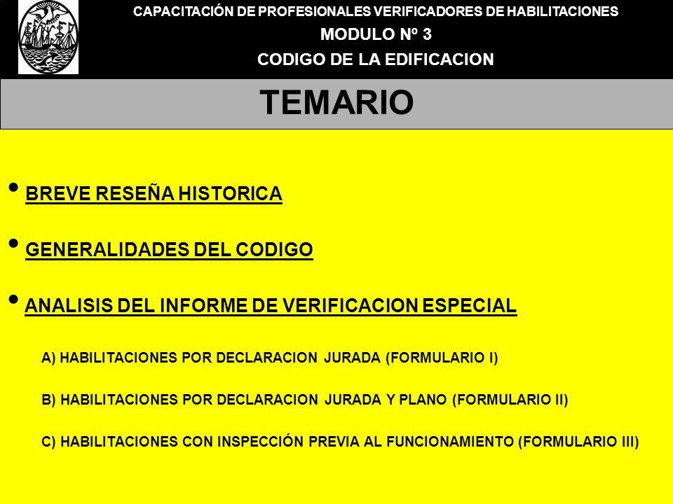 TEMARIO BREVE RESEÑA HISTORICA GENERALIDADES DEL CODIGO