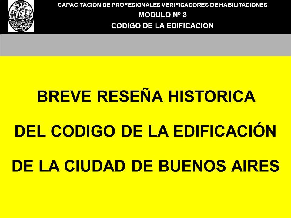 BREVE RESEÑA HISTORICA DEL CODIGO DE LA EDIFICACIÓN