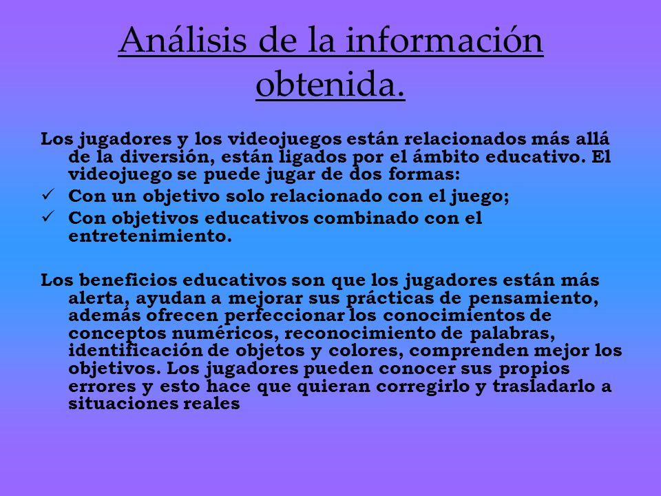 Análisis de la información obtenida.