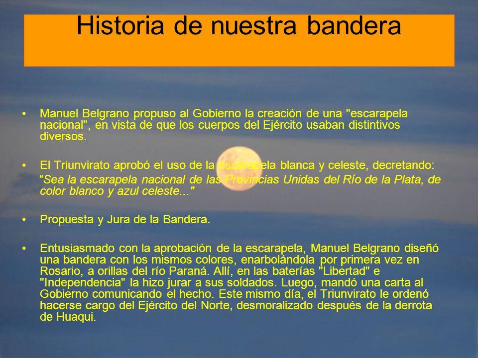 Historia de nuestra bandera