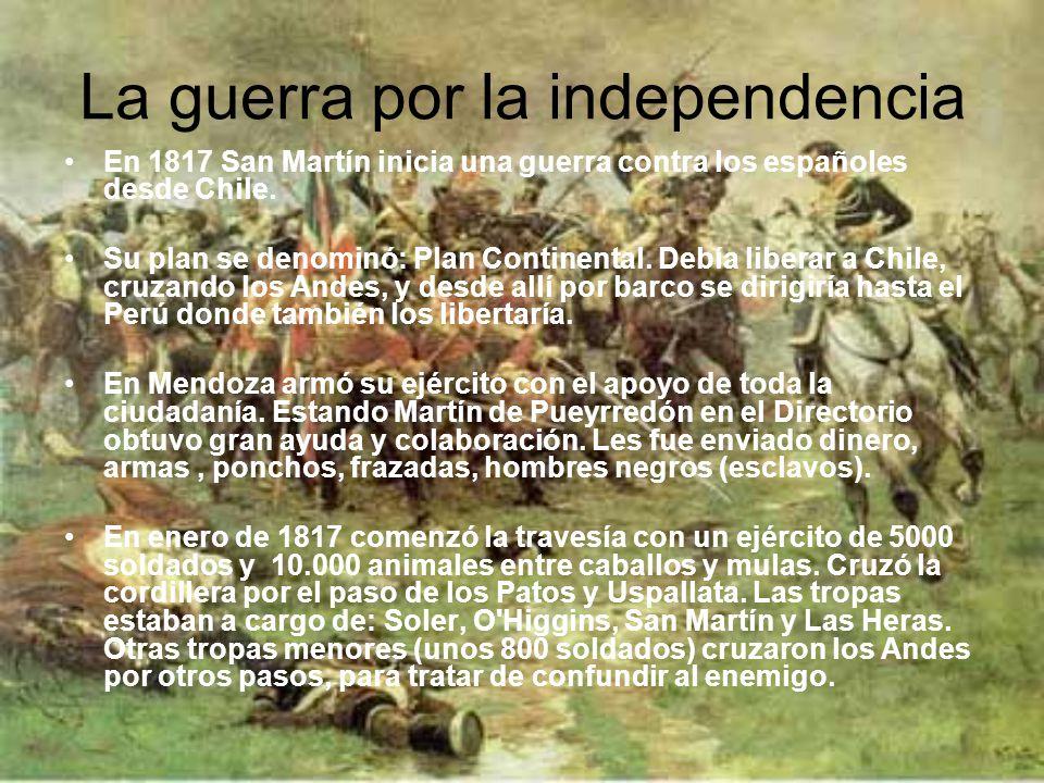 La guerra por la independencia