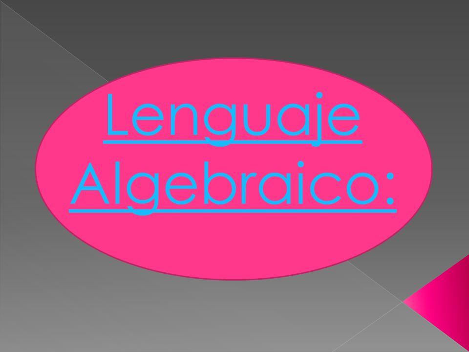 Lenguaje Algebraico: