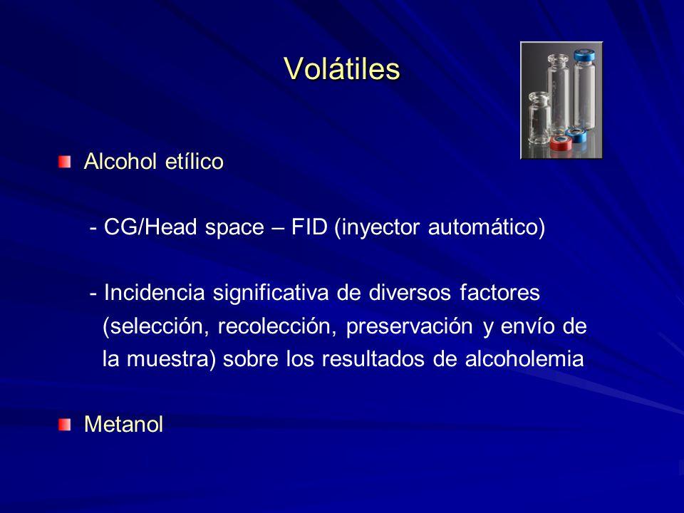 Volátiles Alcohol etílico - CG/Head space – FID (inyector automático)