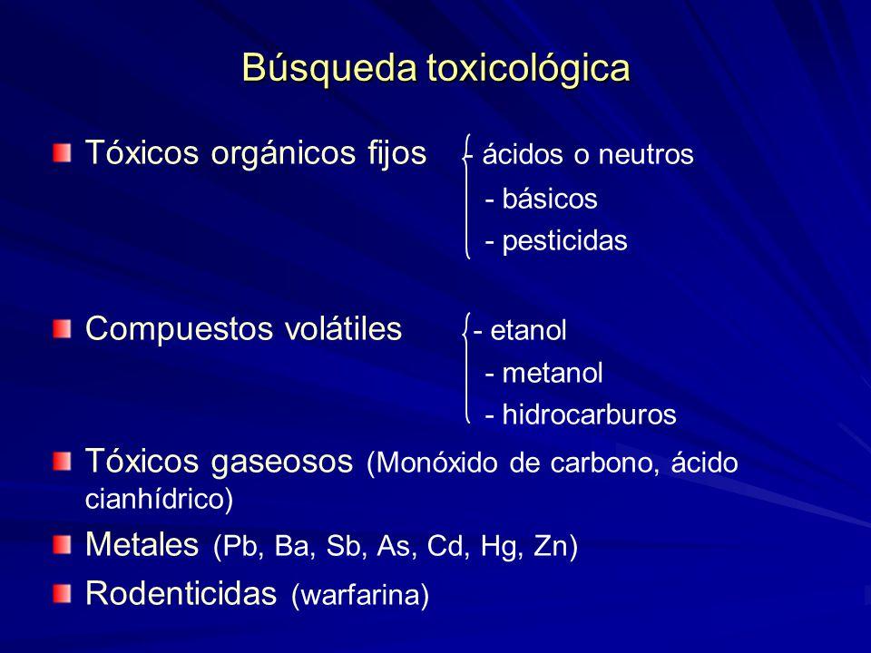 Búsqueda toxicológica