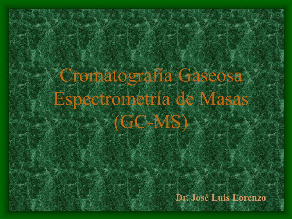 Cromatografía Gaseosa Espectrometría de Masas (GC-MS)