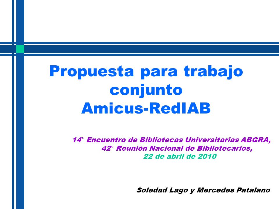 Propuesta para trabajo conjunto Amicus-RedIAB