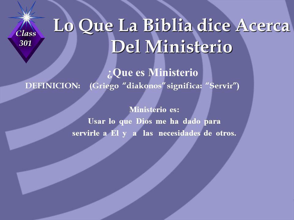 Lo Que La Biblia dice Acerca Del Ministerio