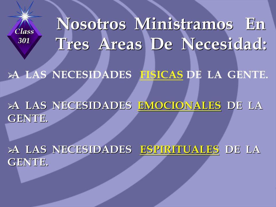 Nosotros Ministramos En Tres Areas De Necesidad: