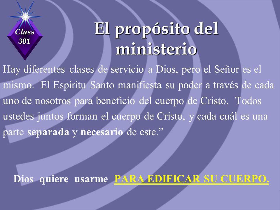 El propósito del ministerio