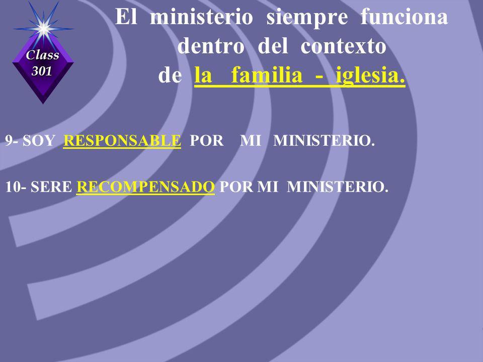 El ministerio siempre funciona dentro del contexto de la familia - iglesia.
