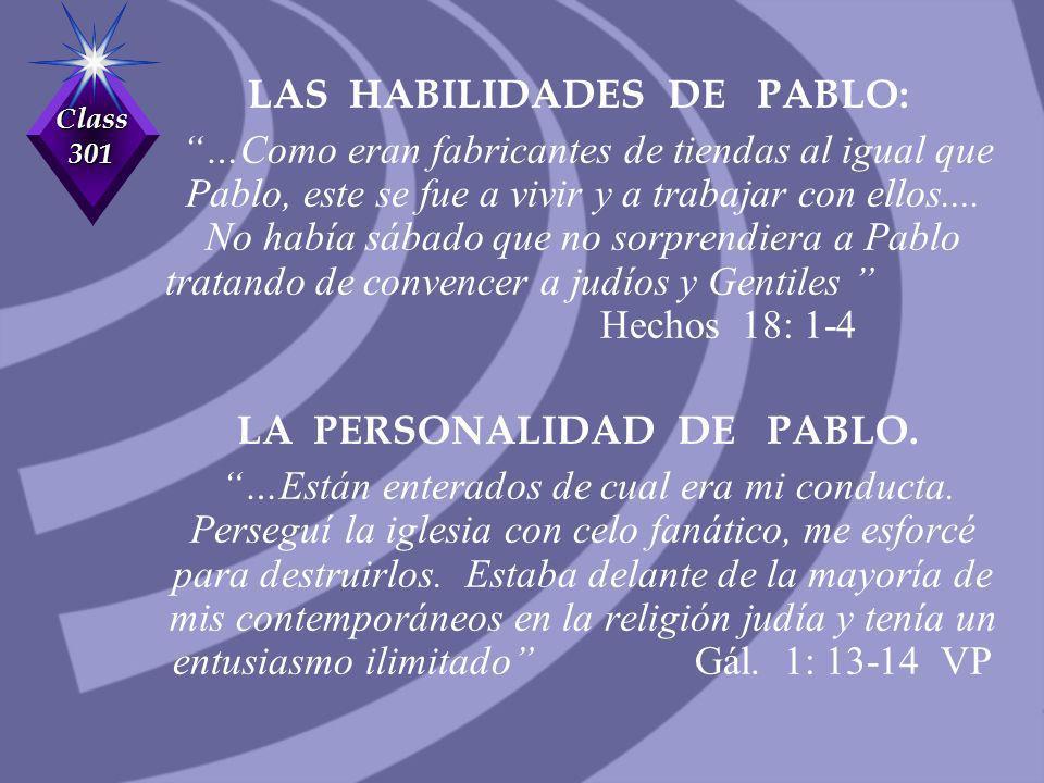 LAS HABILIDADES DE PABLO: