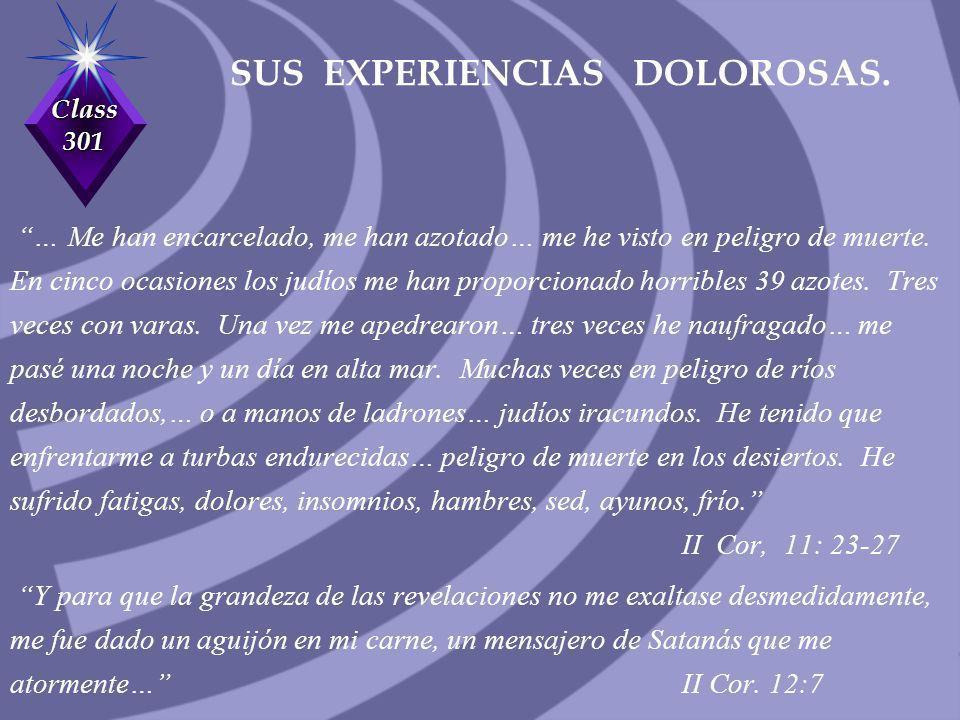 SUS EXPERIENCIAS DOLOROSAS.