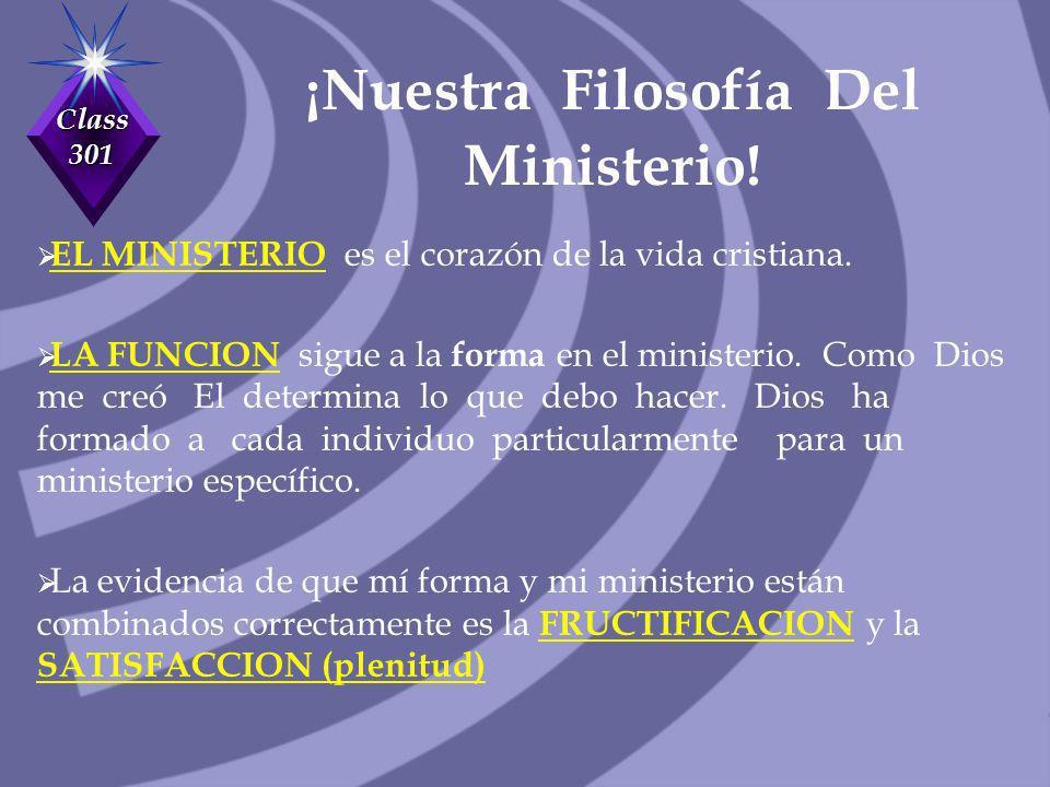 ¡Nuestra Filosofía Del Ministerio!