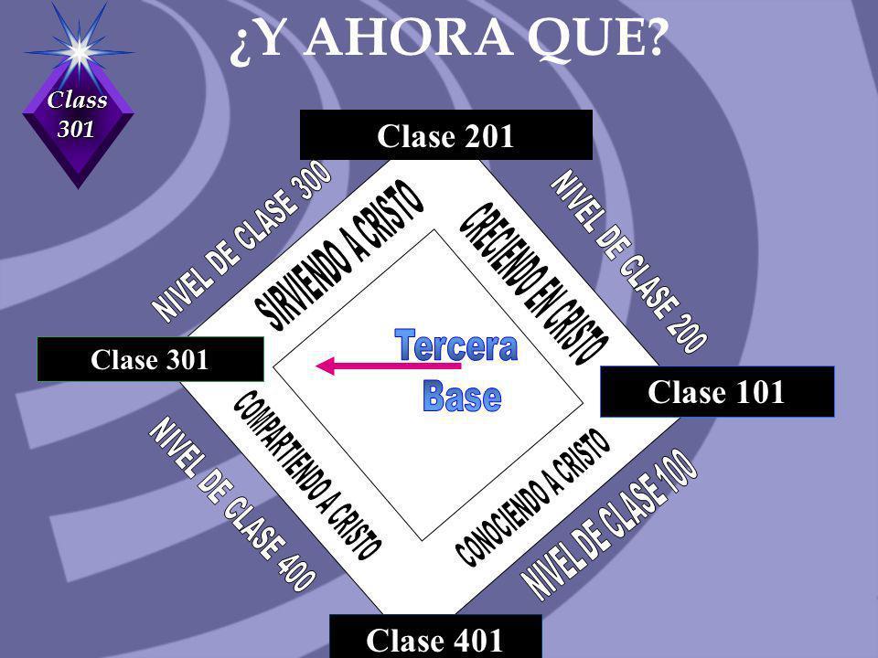 ¿Y AHORA QUE Clase 201 Clase 101 Clase 401 Tercera Clase 301 Base