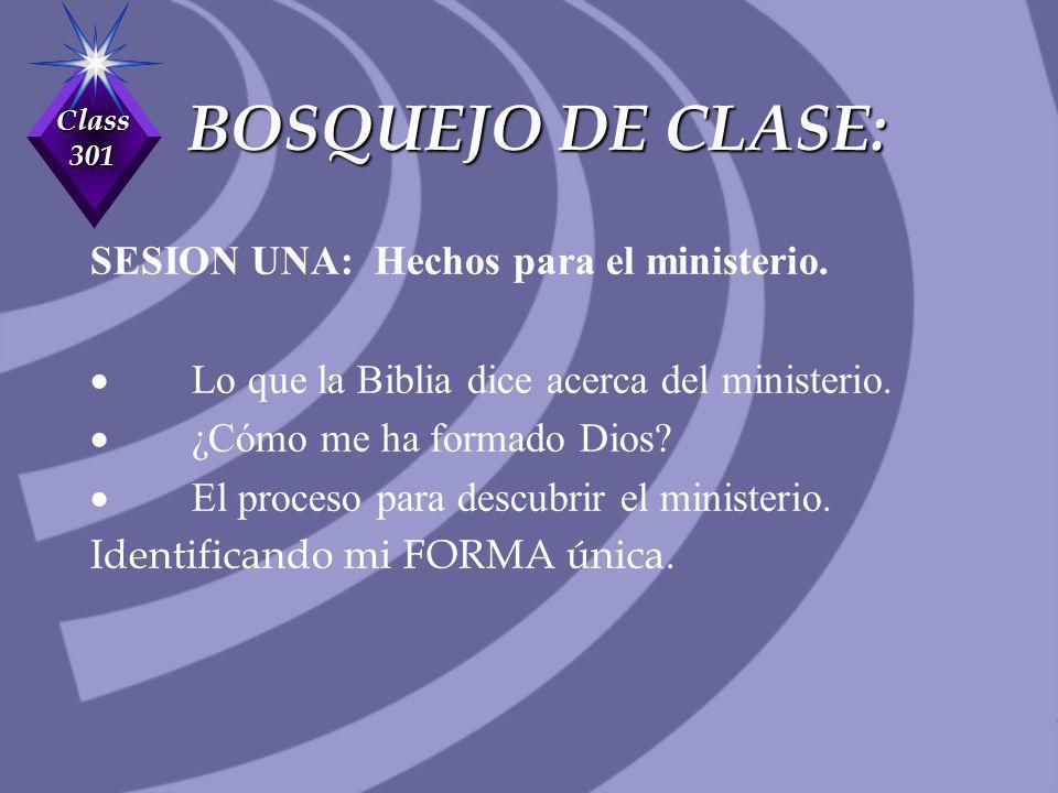 BOSQUEJO DE CLASE: SESION UNA: Hechos para el ministerio.