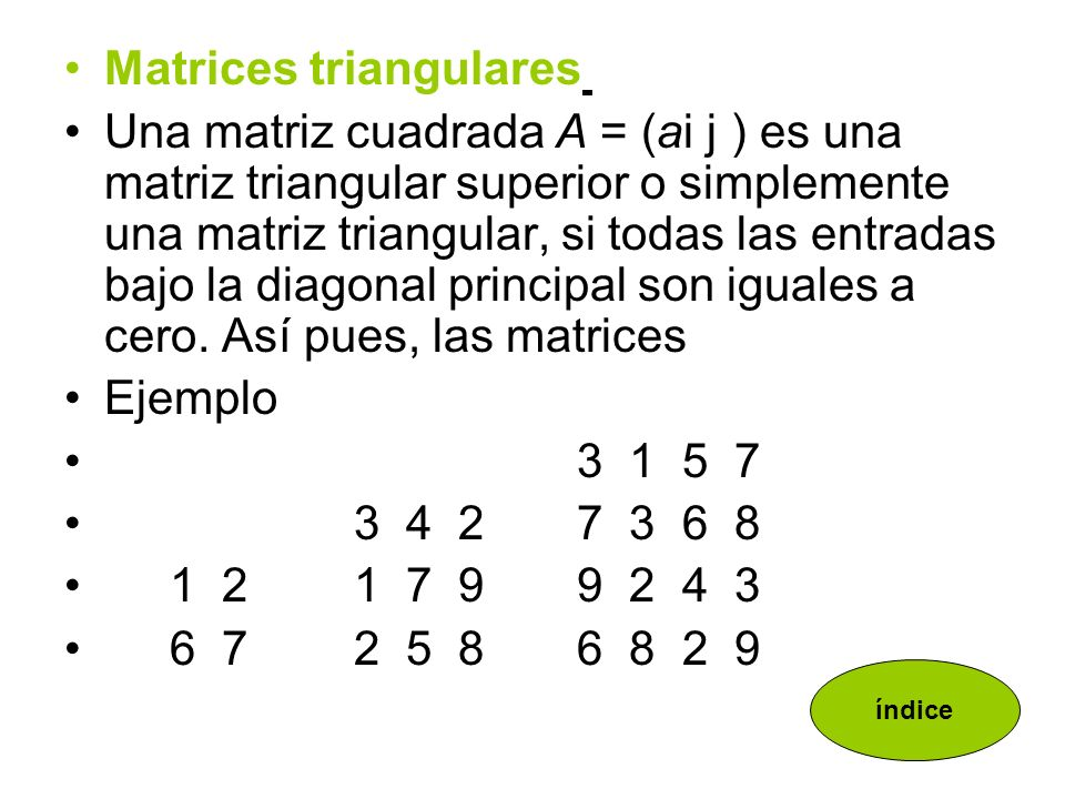 Matrices triangulares