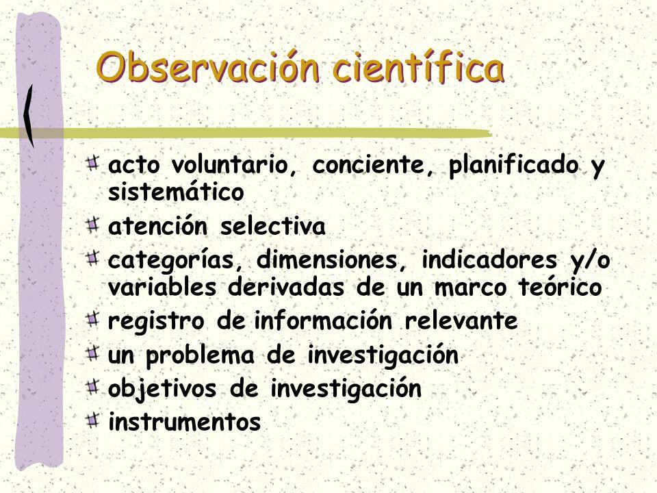 Observación científica