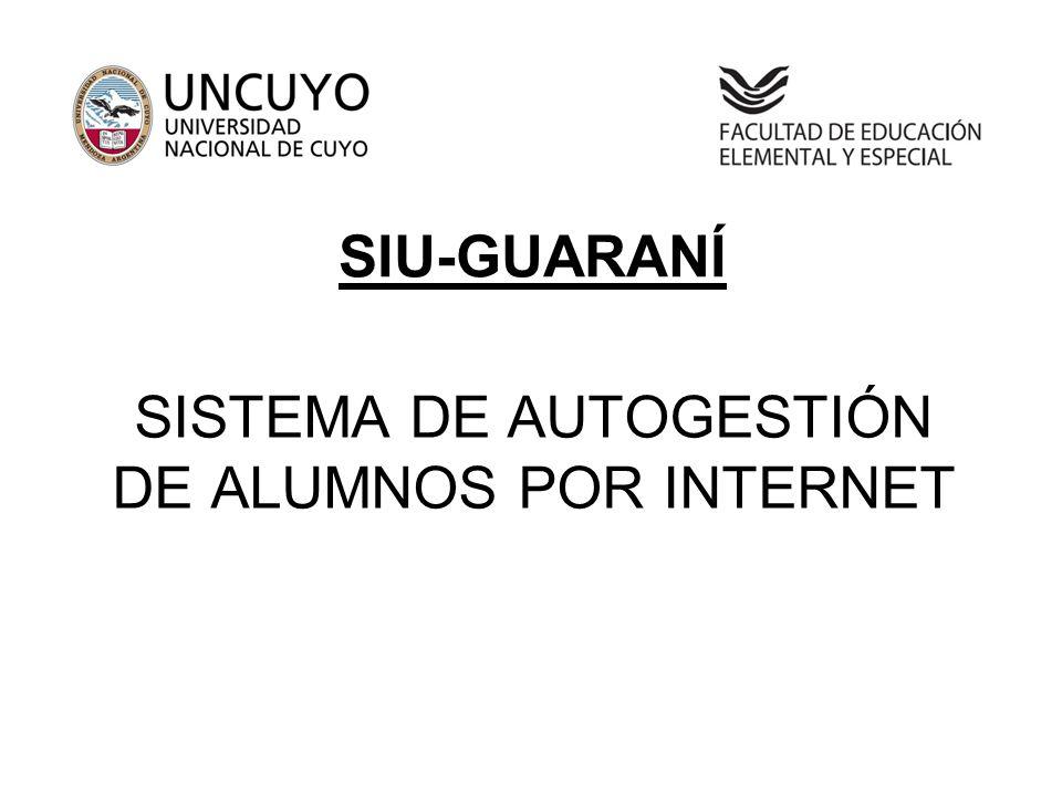 SISTEMA DE AUTOGESTIÓN DE ALUMNOS POR INTERNET