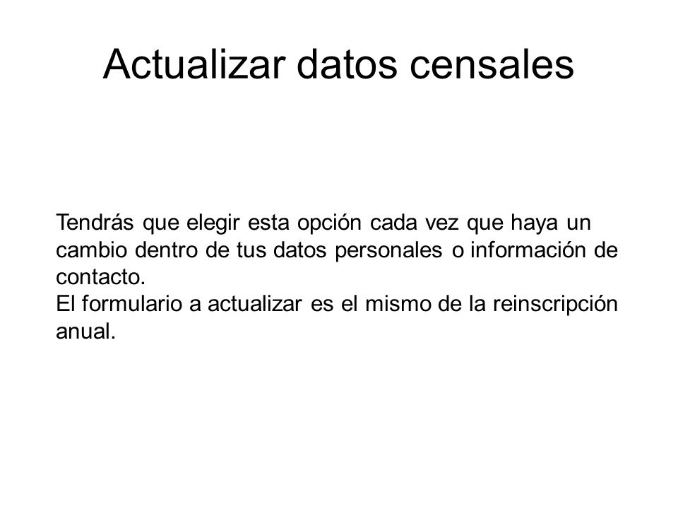 Actualizar datos censales