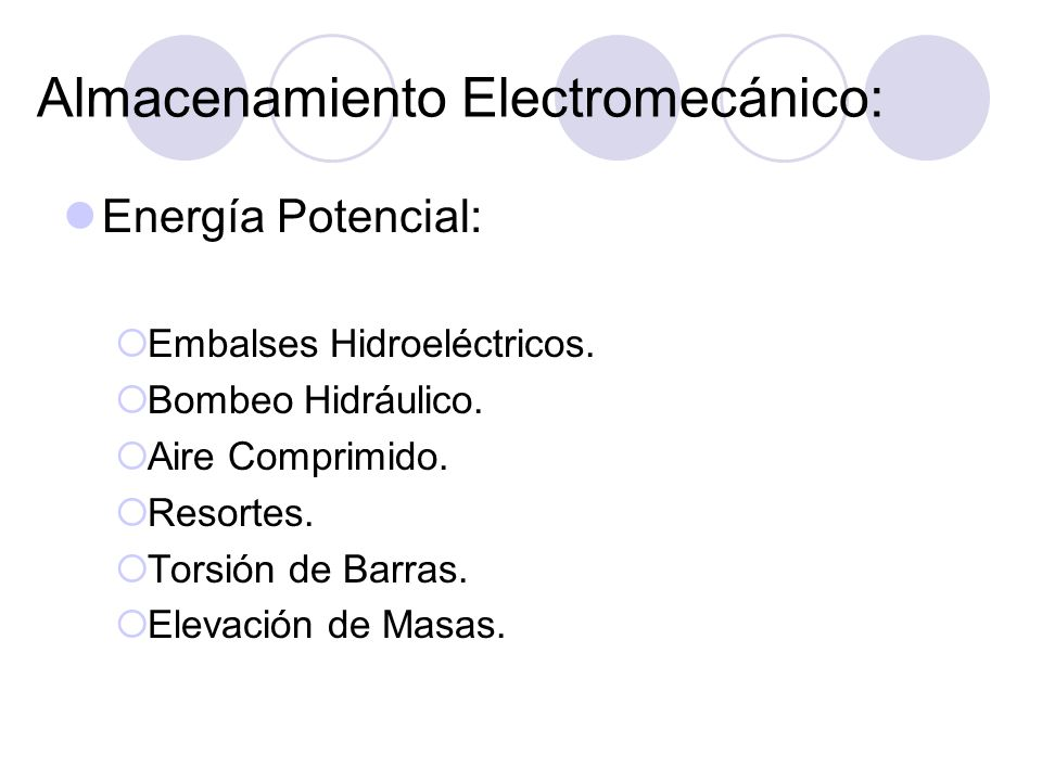 Almacenamiento Electromecánico: