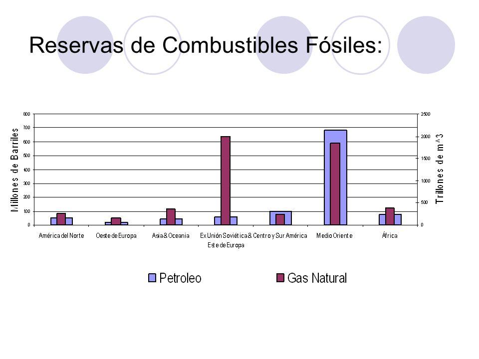 Reservas de Combustibles Fósiles: