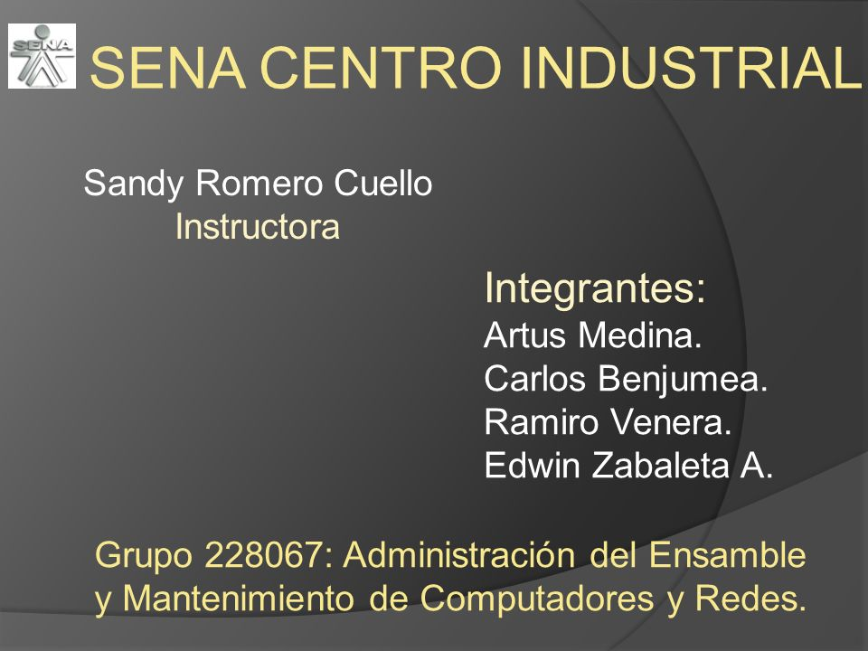 Sandy Romero Cuello Instructora