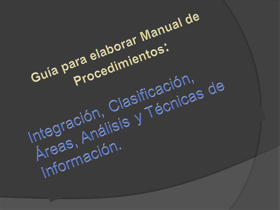 Guía para elaborar Manual de Procedimientos: