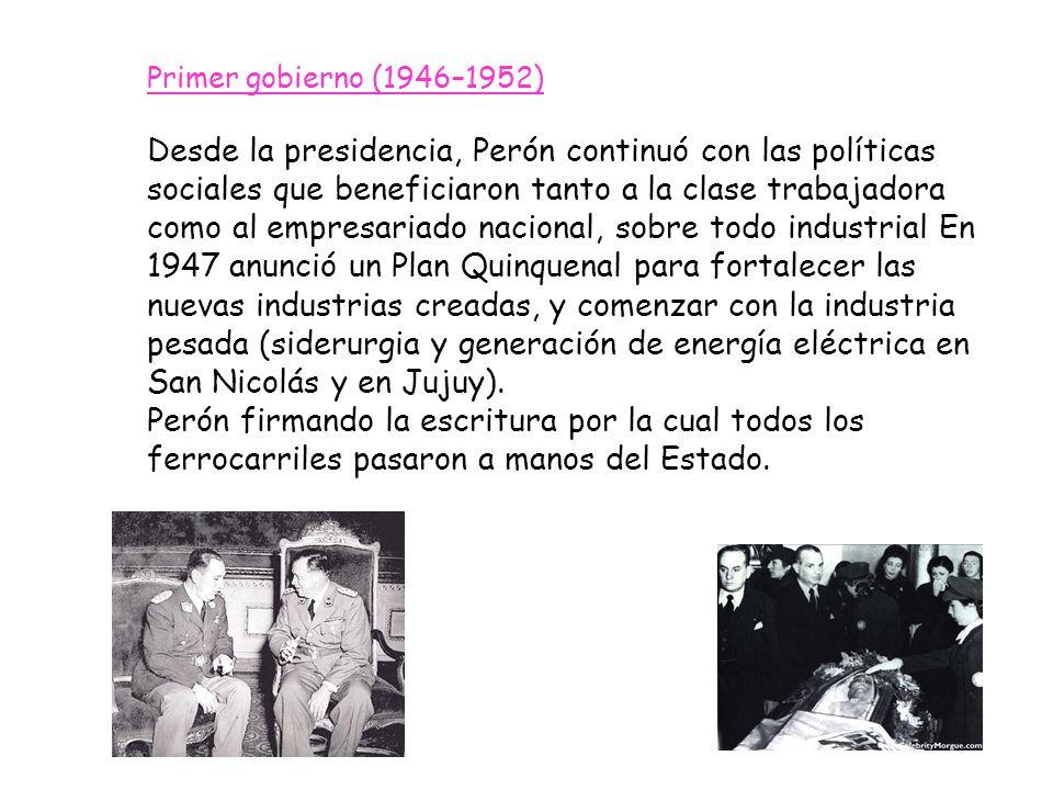 Primer gobierno (1946–1952)