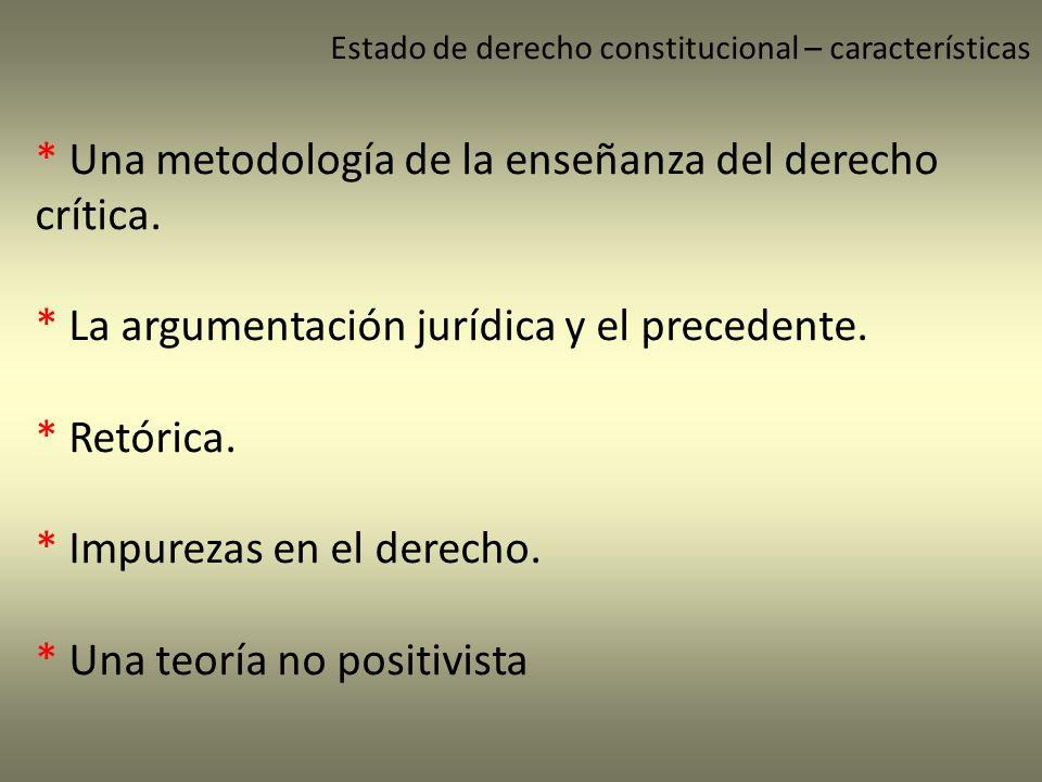 * Una metodología de la enseñanza del derecho crítica.
