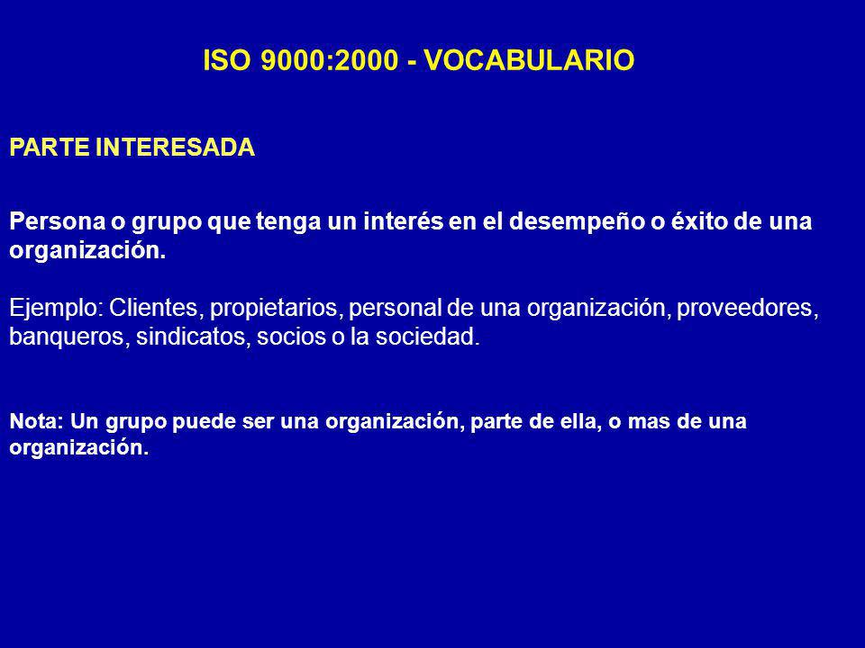 ISO 9000:2000 - VOCABULARIO PARTE INTERESADA