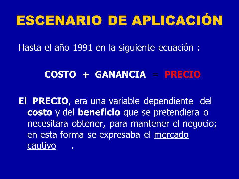 ESCENARIO DE APLICACIÓN