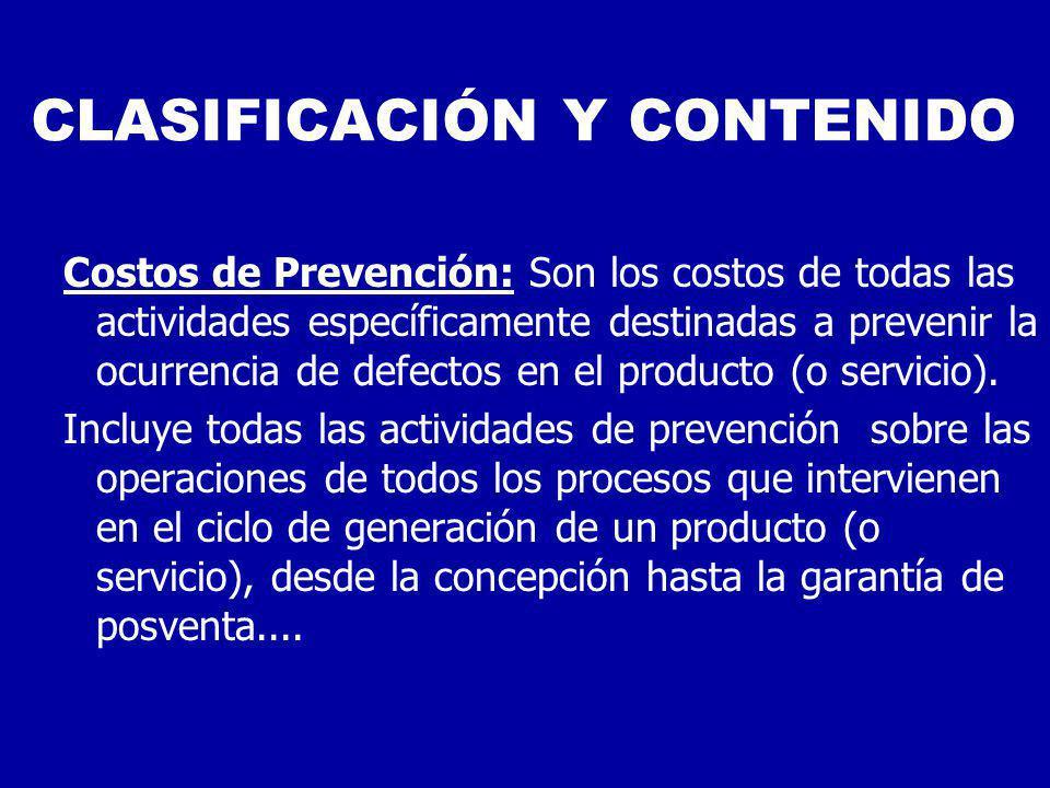 CLASIFICACIÓN Y CONTENIDO