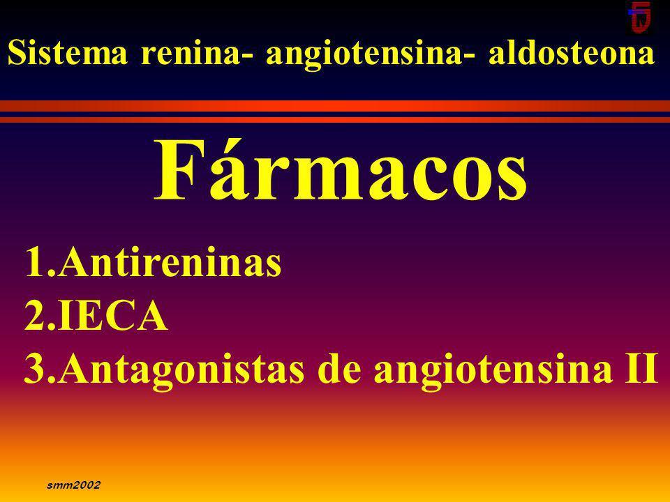Fármacos Antireninas IECA Antagonistas de angiotensina II